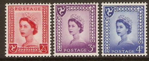 Isle of Man 1958 Queen Elizabeth II Definitives set. SG1-SG3.