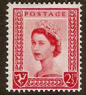 Isle of Man 1958 2½d Carmine-red. SG1.
