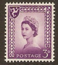 Isle of Man 1958 3d Queen Elizabeth II Definitives series. SG2p.