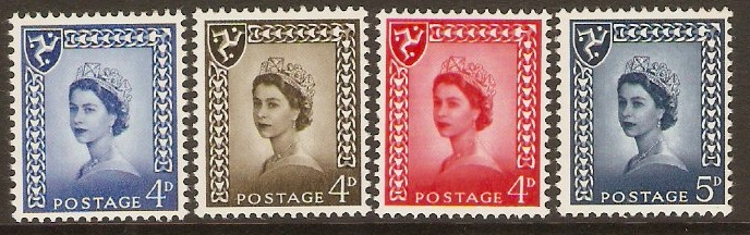 Isle of Man 1968 Queen Elizabeth II Definitives set. SG4-SG7.