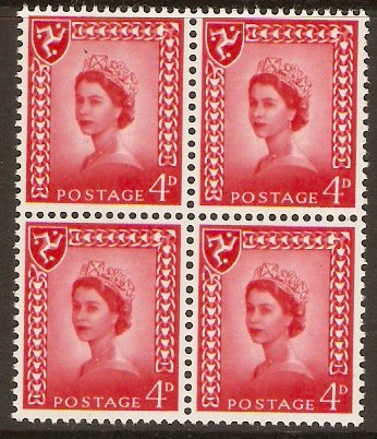 Isle of Man 1968 4d Bright vermilion. SG6.