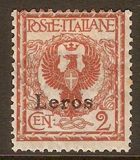 Leros 1912 2c Orange-brown. SG3E. - Click Image to Close