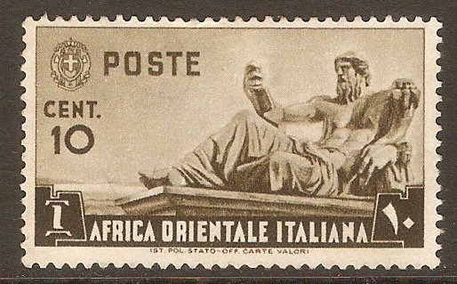 Italian East Africa 1938 10c Brown. SG4. - Click Image to Close