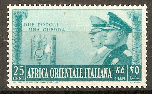 Italian East Africa 1941 25c Turquoise-green. SG58.