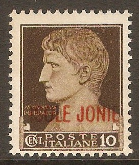 Ionian Islands 1941 10c Brown. SG2.