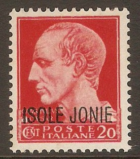 Ionian Islands 1941 20c Red. SG3.