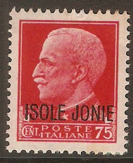 Ionian Islands 1941 75c Red. SG7.