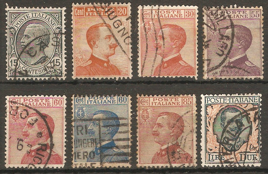 Italy 1917 King Victor Emmanuel III definitives. SG104-SG111.