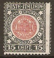 Italy 1921 15c Union of Venezia Giullia Series. SG112.