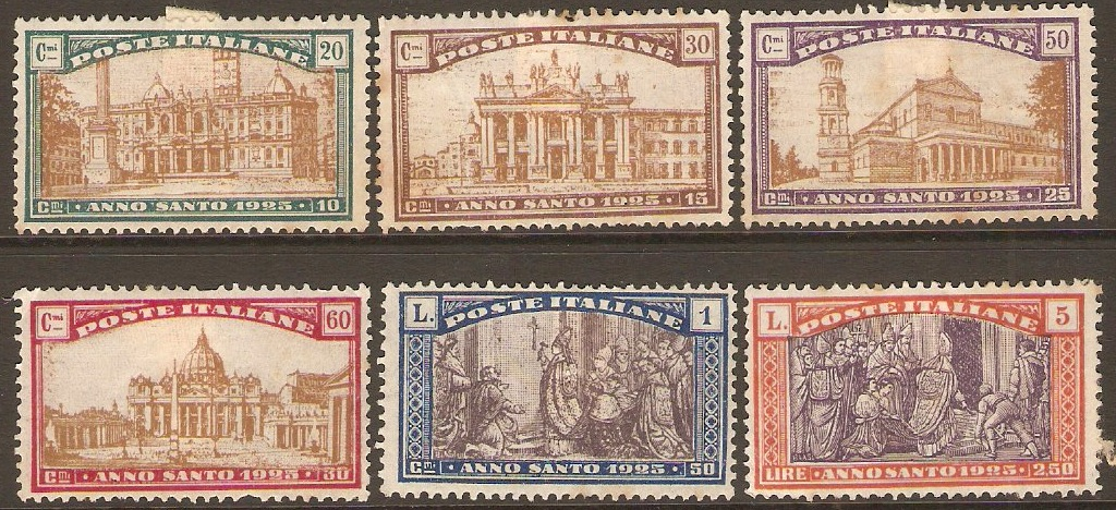 Italy 1924 Holy Year set. SG172-SG177.