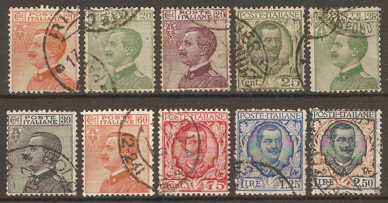 Italy 1925 King Victor Emmanuel III definitives. SG178-SG187.