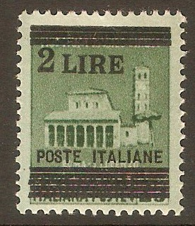 Italy 1945 2l on 25c Green. SG628.
