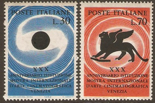 Italy 1962 Cinema Art Fair Anniversary Set. SG1076-SG1077.