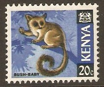 Kenya 1966 20c Ochre, black and blue. SG23.