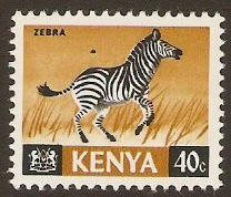 Kenya 1966 40c Black and brown. SG25.