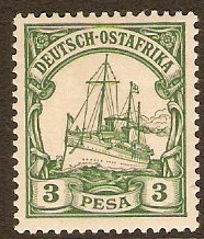 German East Africa 1901 3p Green. SG16.