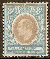 East Africa and Uganda 1904 8a Grey and pale blue. SG25.