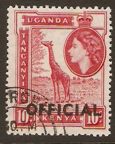 Kenya, Uganda and Tanganyika 1959 10c Carmine-red. SGO2.