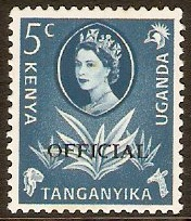 Kenya, Uganda and Tanganyika 1960 5c Prussian blue. SGO13.