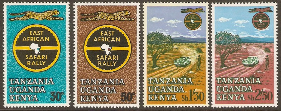 Kenya, Uganda and Tanzania 1965 Safari Rally Set. SG211-SG214.