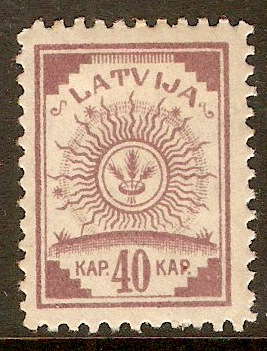 Latvia 1918 40k Purple. SG42.