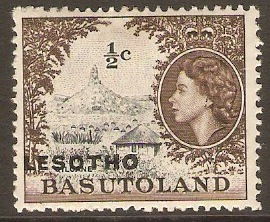 Lesotho 1966 ½c Black and sepia. SG110A.