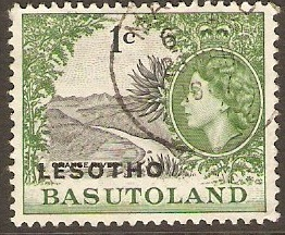 Lesotho 1966 1c Black and green. SG111A.