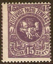 Lithuania 1919 20s blue. SG51.