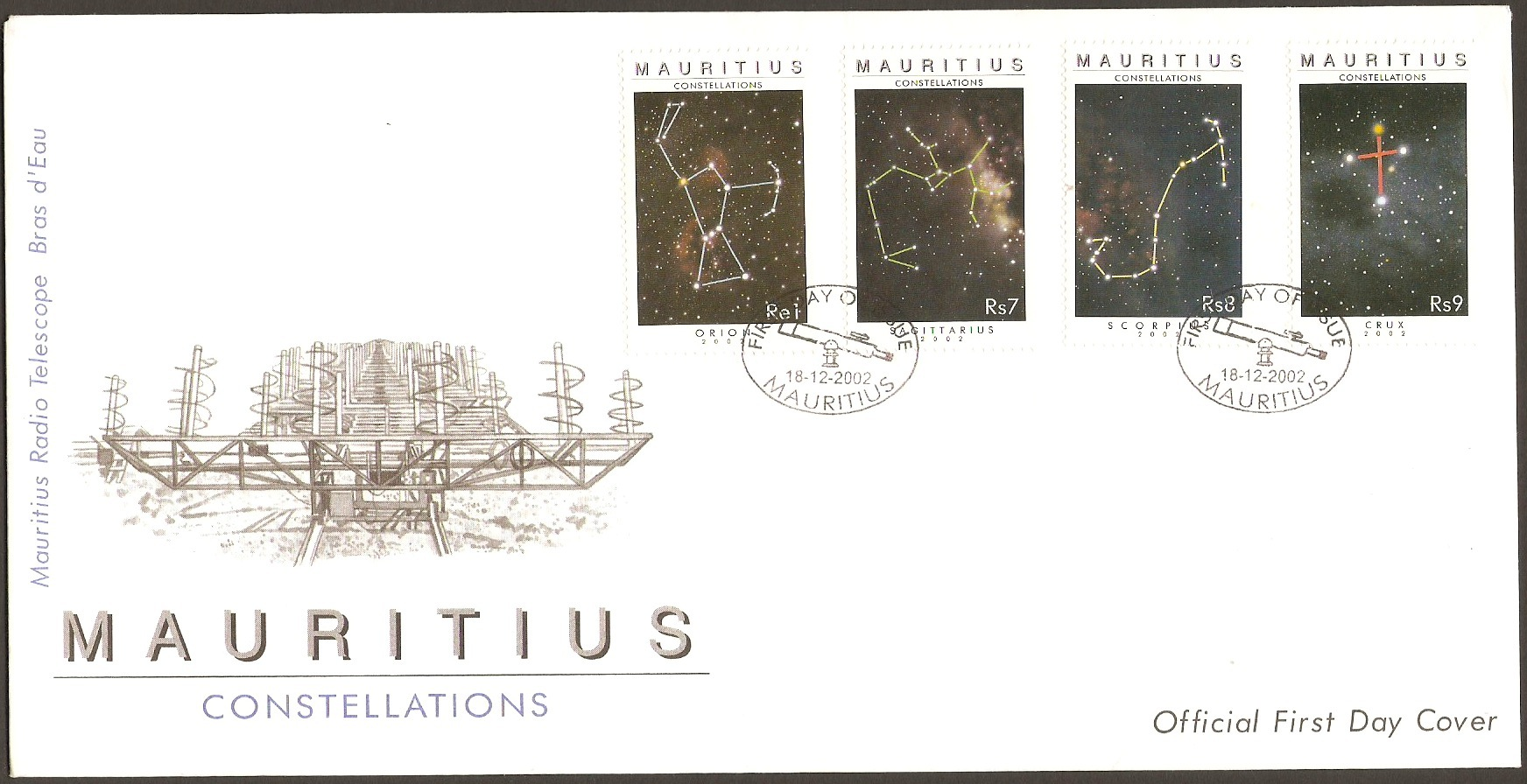 Mauritius 2001 Constellations Series FDC.