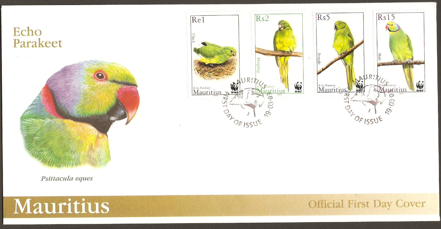 Mauritius 2001 Endangered Species Series FDC.