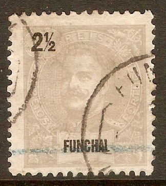 Funchal 1897 2½ Pale grey. SG110.