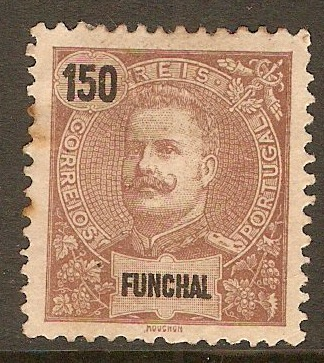 Funchal 1897 150r Purple-brown on straw. SG120.