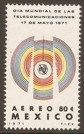 Mexico 1971 80c World Telecomms. Day. SG1229.