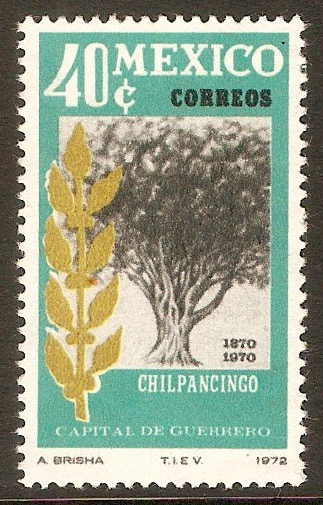 Mexico 1972 40c Chilpancingo Centenary. SG1249.