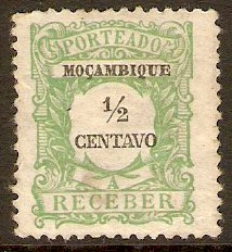 Mozambique 1917 ½c Yellow-green Postage Due. SGD246.