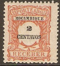Mozambique 1917 2c Red-brown Postage Due. SGD248.