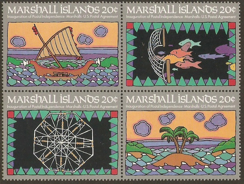 Marshall Islands 1984 Postal Independence Set. SG1-SG4.