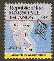 Marshall Islands 1984 14c Maps Series. SG10.