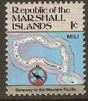 Marshall Islands 1984 1c Maps Series. SG5.