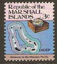 Marshall Islands 1984 3c Maps Series. SG6.