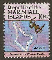 Marshall Islands 1984 10c Maps Series. SG8.