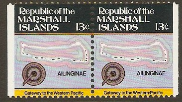 Marshall Islands 1984 13c Maps Series. SG9.
