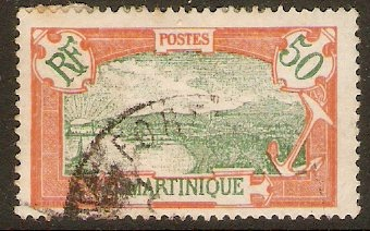 Martinique 1922 50c Green and dull red. SG98.