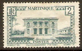 Martinique 1933 2c Light blue. SG135.