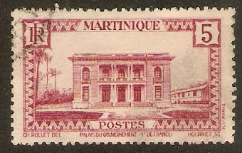 Martinique 1933 5c Claret. SG138.