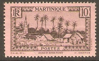 Martinique 1933 10c Black on rose. SG139.