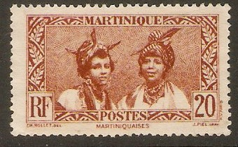 Martinique 1933 20c Red-brown. SG141.