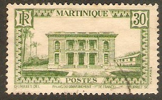 Martinique 1933 30c Green. SG143.