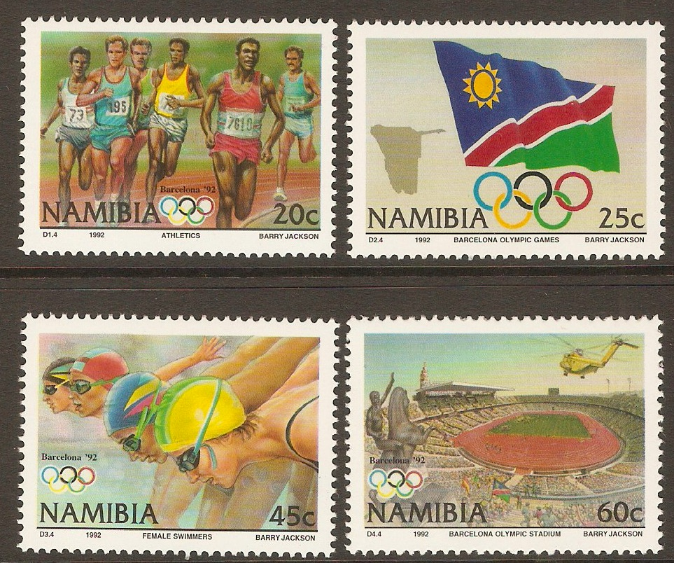Namibia 1992 Olympic Games set. SG597-SG600.