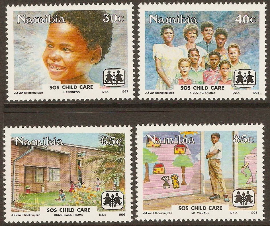 Namibia 1993 SOS Child Care set. SG619-SG622.